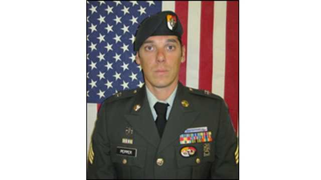 Staff Sgt. Brandon Robert Pepper, 31, of Baltimore, died during an attack on his patrol in Ghazni Province in Afghanistan, the U.S. Army said.