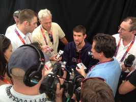 Interviewing Michael Phelps