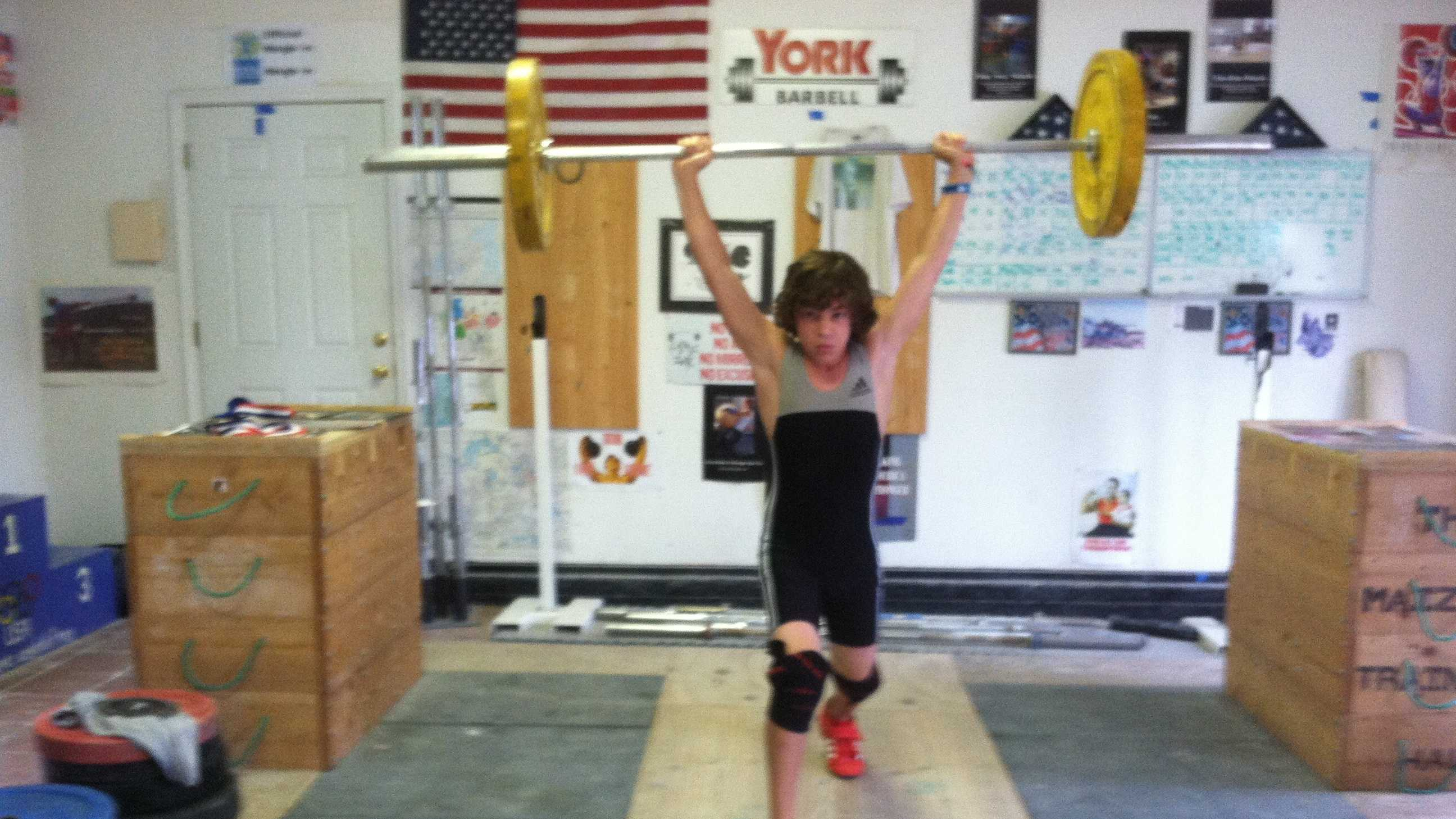 Junior Olympian Tyler Maizels  lifts more than his own weight.