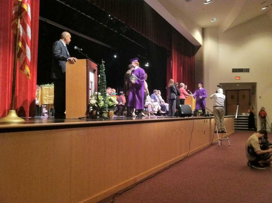 One month before the first day of the start of school, dozens of Howard County students are getting their high school diplomas.