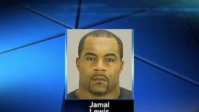 Former Baltimore Raven Jamal Lewis, 32, has been accused of child abandonment.