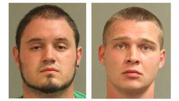 Authorities said Robert Tyler Taylor, 21, of Brooklyn Park, and 25-year-old Charles Koethe, of Halethorpe, were charged with possession of CDS: marijuana&#x3B; possession of CDS: not marijuana&#x3B; and CDS possession with the intent to distribute.