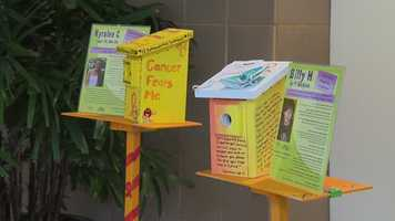 On display in August at White Marsh Mall, 36 current and former pediatric cancer patients show off their handmade birdhouses to reflect their journey of living with cancer.