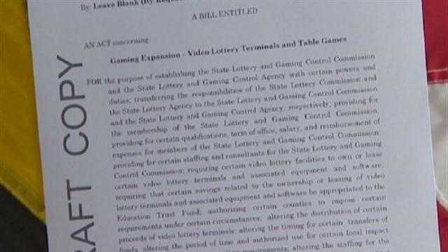 The governor's expanded gaming bill would allow voters to decide the fates of a proposed casino in Prince George's County by 2016, table games for all locations and a tax break for casino operators -- provided it passes a special session.