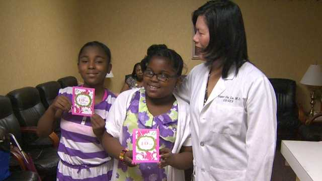 A pair of twins -- born 54 days apart -- and the doctors who delivered them 10 years ago reunited Friday in Towson.