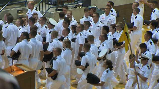 """In the words of a plebe who asked to remain anonymous, """"It's a really great place at the academy. We just all took it one step at a time, and we're really proud of what we've been able to accomplish."""""""