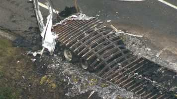 Maryland State Police said they didn't expect the blasting devices in the trailer to explode.