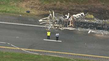 Lewis said the fire apparently started in the brakes of the eastbound truck.