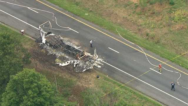 A fire on a tractor-trailer carrying explosives closes a major east-west interstate highway in Western Maryland.