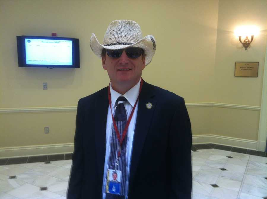"Delegate Glen Glass, a Republican representing portions of Harford and Cecil counties, end his one-man boycott of the special session. He showed up Monday in this getup, introducing himself saying, ""Howdy, partner."""