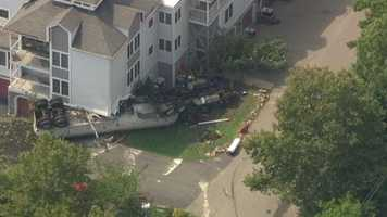 It happened on the 500 block of Rowland Drive at the Homes Landing condominium complex shortly after 1 p.m. Tuesday.