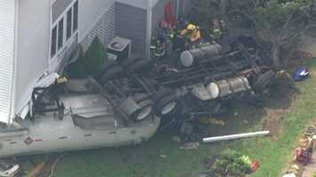 Port Deposit officials said the driver was driving on Center Street and tried to negotiate a turn but ended up crashing into the complex after losing his brakes coming down a hill.
