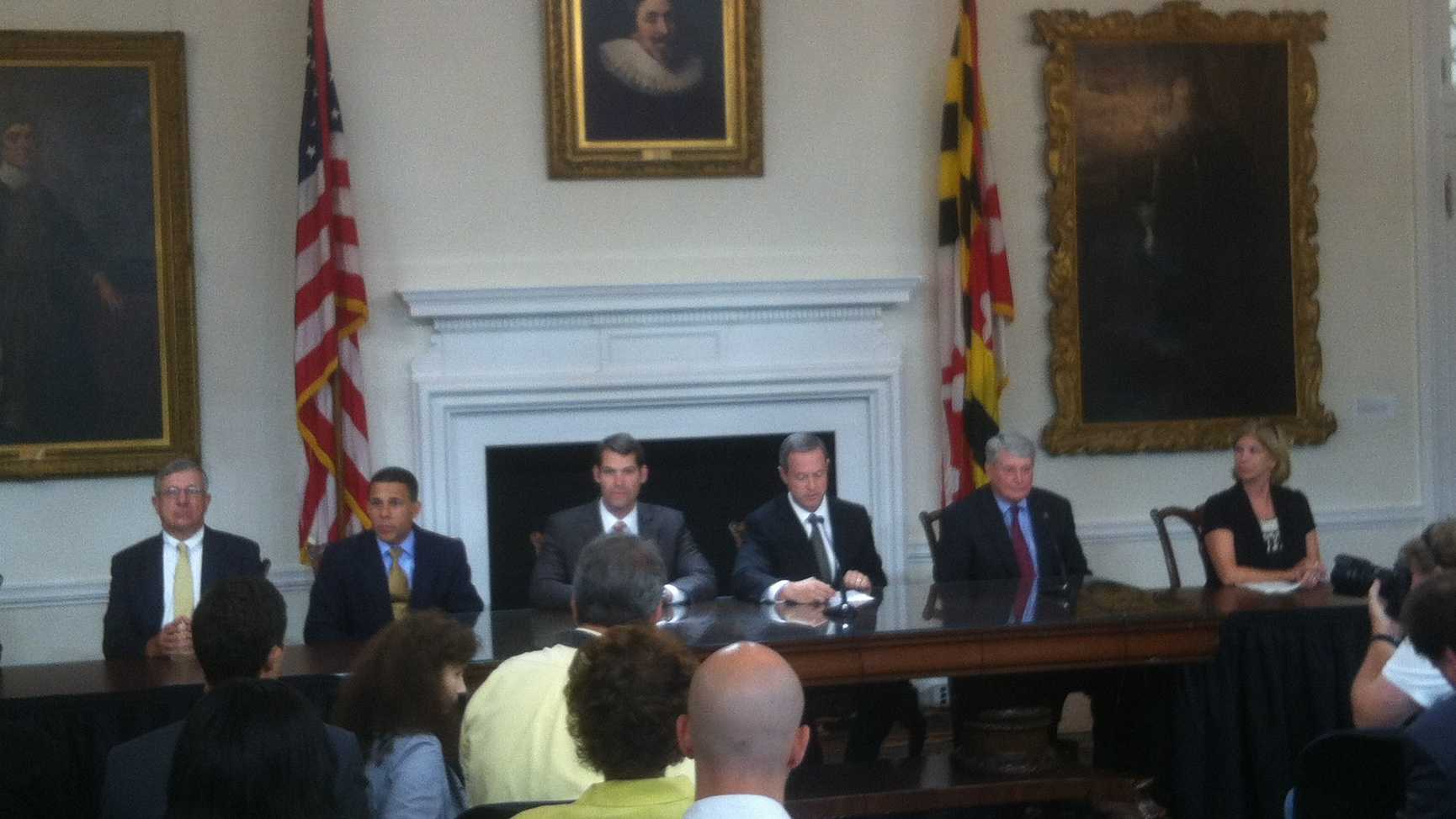 Gov. Martin O'Malley signs the new gambling bill into law.