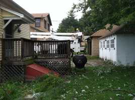 Reporter Lowell Melser said it was the same neighborhood that lost power for five days during June's derecho storm.