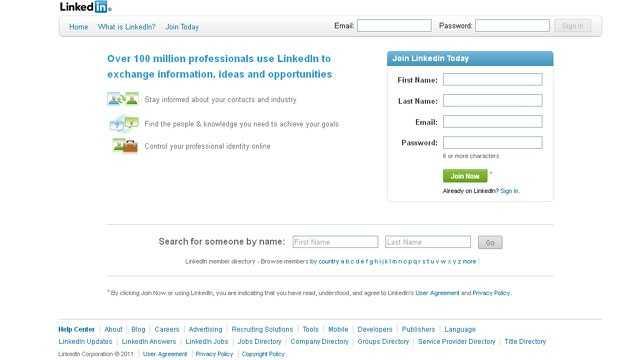 LinkedIn screengrab
