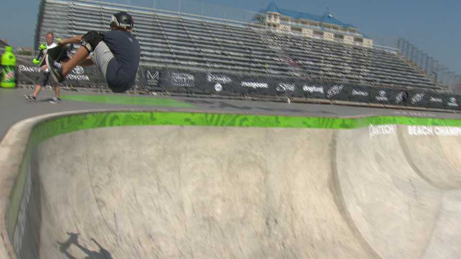 The competition kicked off Thursday in Ocean City, where spectators watched some of the skateboard and BMX events from the beach and from the stands. The festivities run through Sunday.