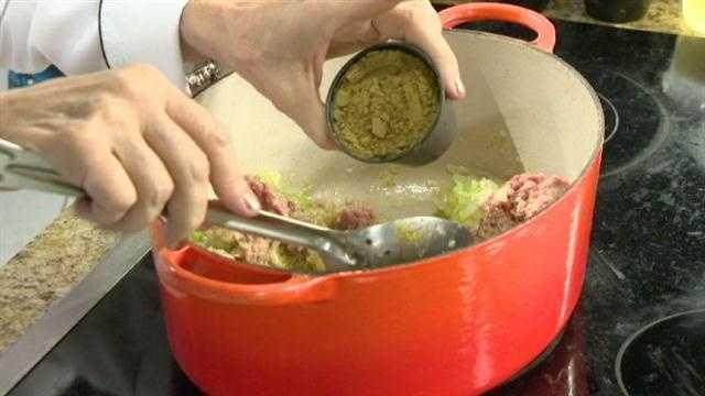 Picadillo Step 7: Add ½ tsp ground cumin