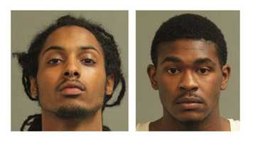 Police said Kenny Carlos Truxon Jr., 19, of Glen Burnie, and Detrick Aliahjuaa Parker, 18, of Baltimore, were arrested and charged with robbery, two counts of second-degree assault, two counts of theft under $1,000 and rogue and vagabond.