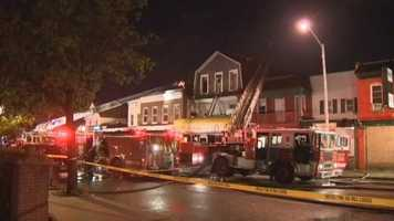 A Baltimore firefighter is one of four people recovering after being injured by a four-alarm fire in the southwest part of the city Sunday night.