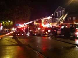It took crews nearly two hours to put the blaze out.