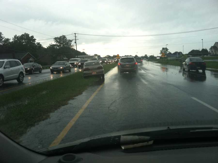 Westbound Route 50 in Easton saw a good bit of flooding.