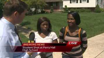 WBAL-TV 11 News Reporter Lowell Mesler spoke to two Perry Hall High School students about the shooting.
