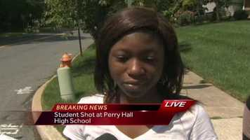 A Perry Hall High School student talks about the shooting that happened on the first day of school.