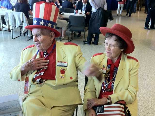Several attendees wore cool patriotic attire.