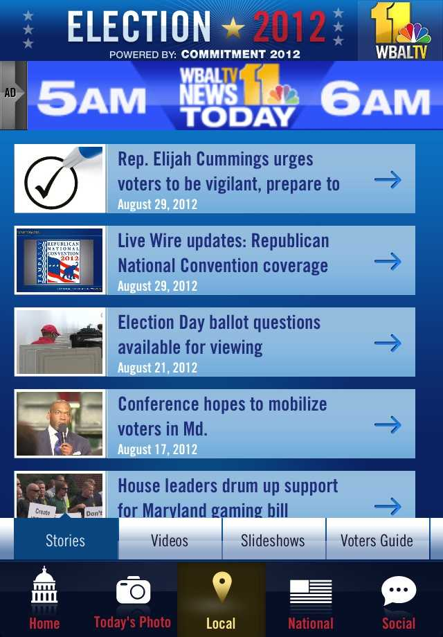 Get informed with the latest local and national articles, pictures and videos as submitted by WBAL-TV 11's reporters covering the elections.
