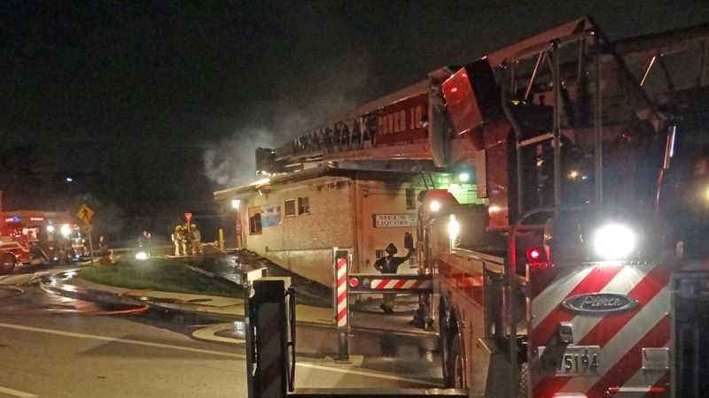 Several crews battled a blaze at business in Jessup early Monday morning.