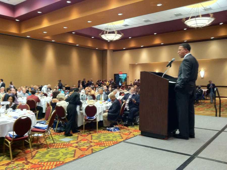 Lt. Gov. Anthony Brown hosts the Maryland delegation breakfast Tuesday morning.