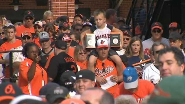 Ripken was also honored in an on-field ceremony and he threw out the ceremonial first pitch.