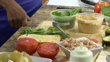 Spread the chipotle mayo on the ciabatta bread