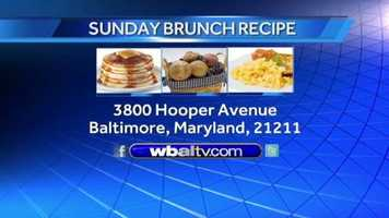 If you would like a copy of the Lobster salad recipe, click on food. Or you can send us a self-addressed stamped envelope to: Sunday Brunch, WBAL-TV, 3800 Hooper Avenue, Baltimore, Maryland, 21211.