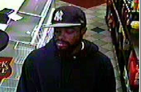 Police are searching for this man in connection with the robbery of a Sunoco on Lakeside Boulevard in Owings Mills.