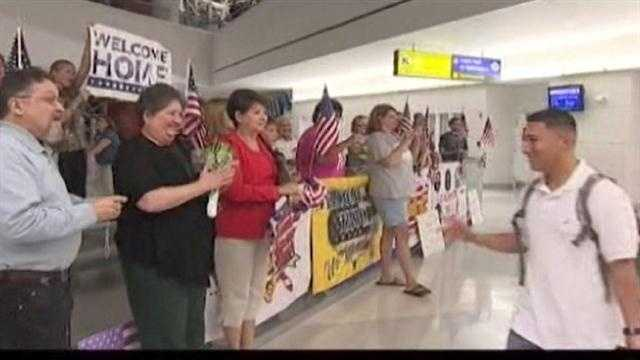 It was a special homecoming Tuesday night for troops who touched down in Maryland on the 11thanniversary of the terrorist attacks.