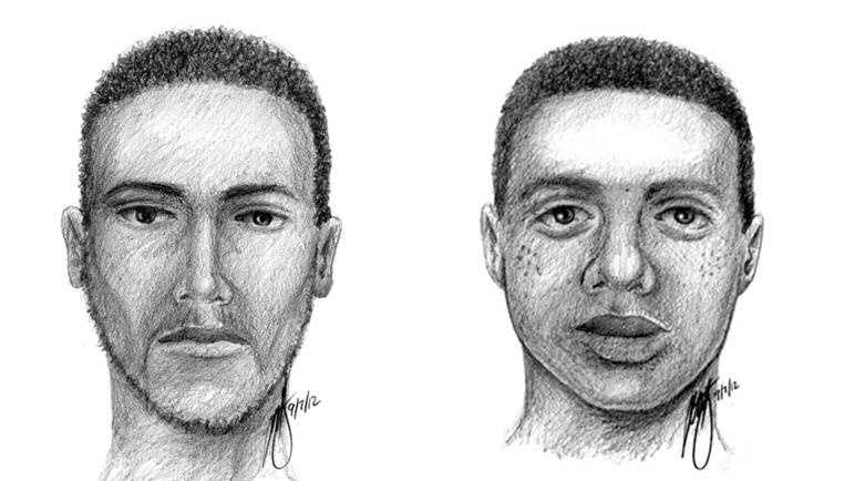West Hoffman Street shooting composite sketch. If you know these men, call police at 410-396-2240.