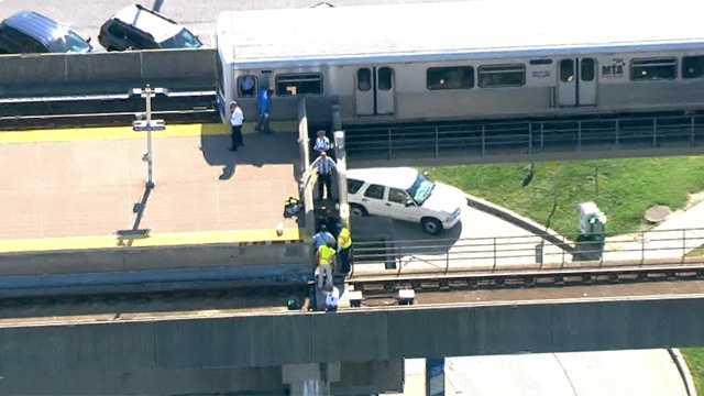 Scene of subway-pedestrian accident