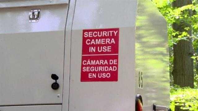 Speed camera vandalism