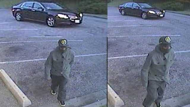 Anne Arundel County police are asking for the public's help to find an armed robber described as a black man in his mid-20s, 5 feet 7 inches tall, with an average build, wearing a dark-colored jacket, a black baseball hat and dark jean pants.