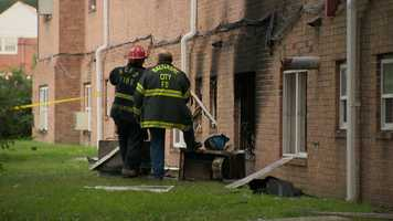 A two-alarm fire at a northeast Baltimore apartment complex sends at least six people, including a 7-year-old boy, to hospitals.