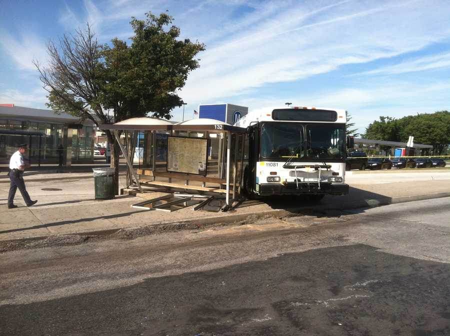 Police in Baltimore are investigating a Maryland Transit Administration bus crash that injured several people at a bus shelter at Mondawmin Mall on Thursday.