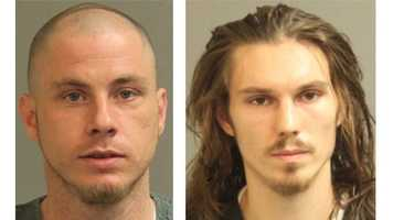 Police said Kenneth Dale Sanford, 30, and Christopher Bethurum, 23, (pictured left to right) were arrested and charged for their involvement in three cases of metal thefts, including JB Machine and Parts in the 7900 block of Solley Road in Glen Burnie.