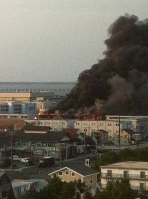 A fire ignites at Bradley on the Bay just before 6 p.m. in Ocean City, police say.