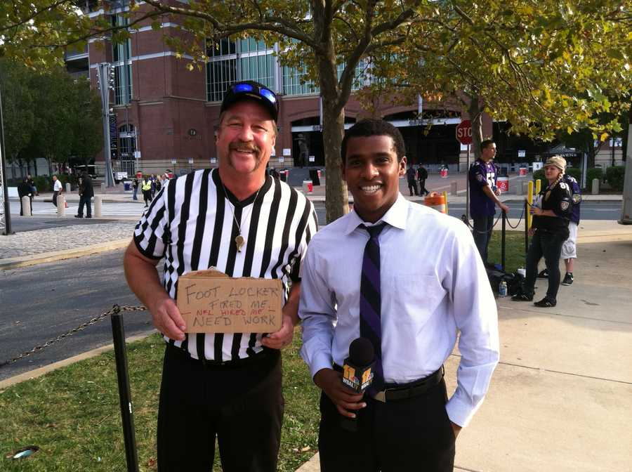"On the day the real refs return to NFL games, this fan quips, ""Foot Locker fired me, the NFL hired me. So, I need a job."""