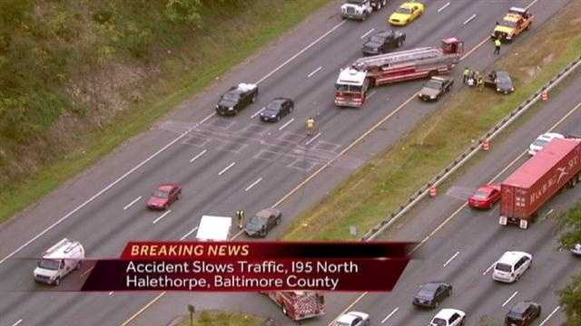 Accident Causes Traffic Back On I-95