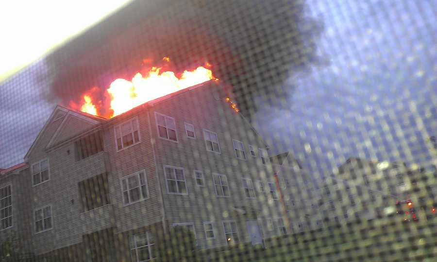 Nearly two-dozen families are looking for new homes after their apartment building caught fire in Anne Arundel County on Sunday.