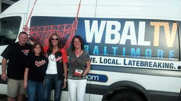Michelle Wittig and her family travel to Tampa Bay to see the O's and ran into our crew! Thanks for sending the picture!