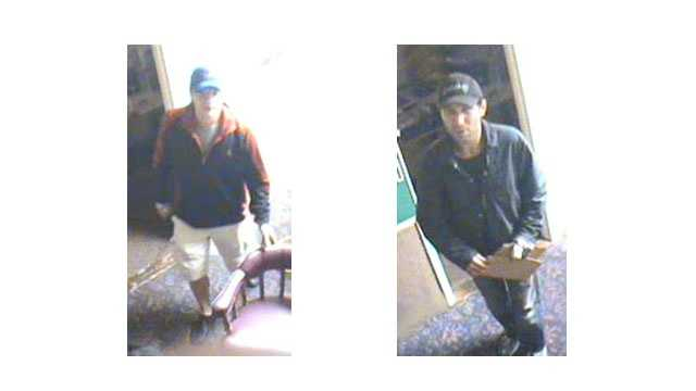 Baltimore County police are asking for the public's help identifying two men responsible for a burglary.