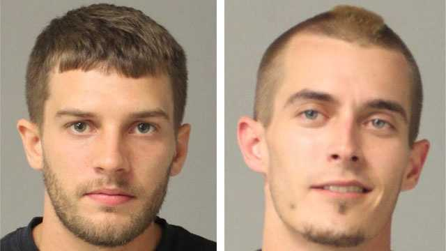 Police said 22-year-old Justin Andrew Hartman (pictured left), of Arnold, and Scott Matthew Stein (pictured right), 27, of Glen Burnie, were arrested and face numerous drug charges.
